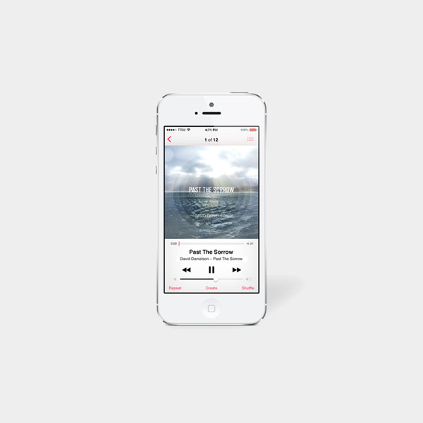 image of the album displayed in iTunes on an iPhone